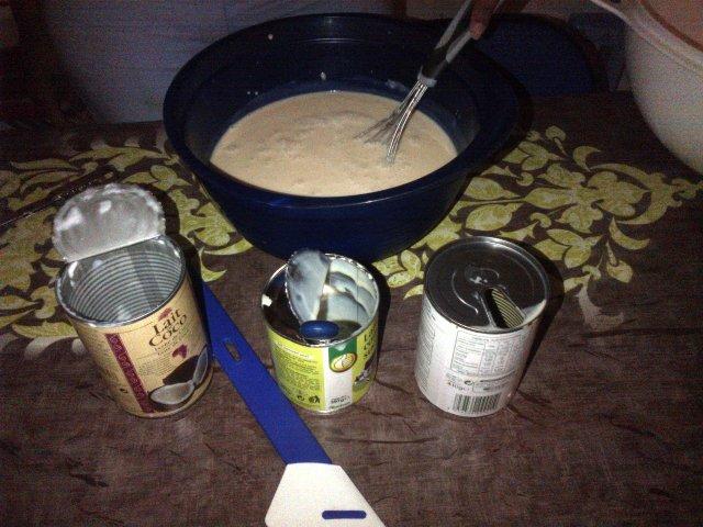 Ajouter le lait à l'appareil