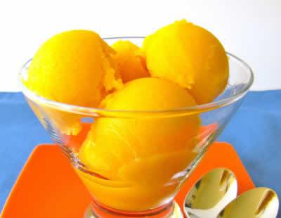 Sorbet maison à base d'oranges