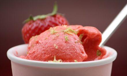 Sorbet fraise et citron vert