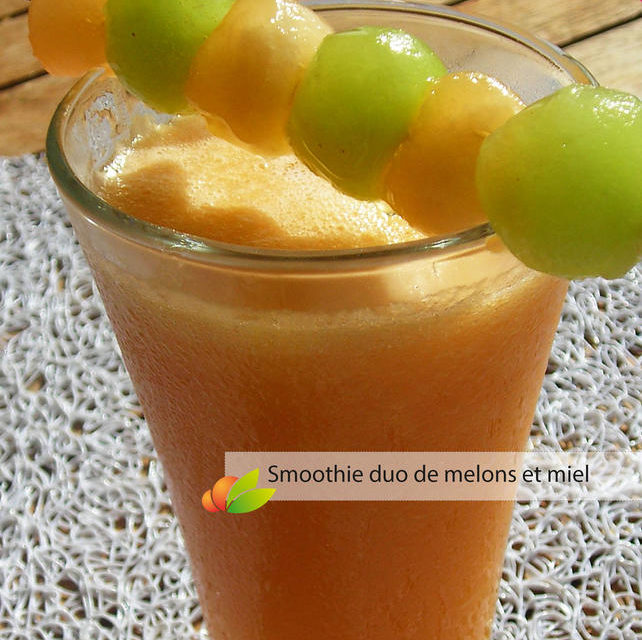 Smoothie au melon, carotte et miel de Martinique