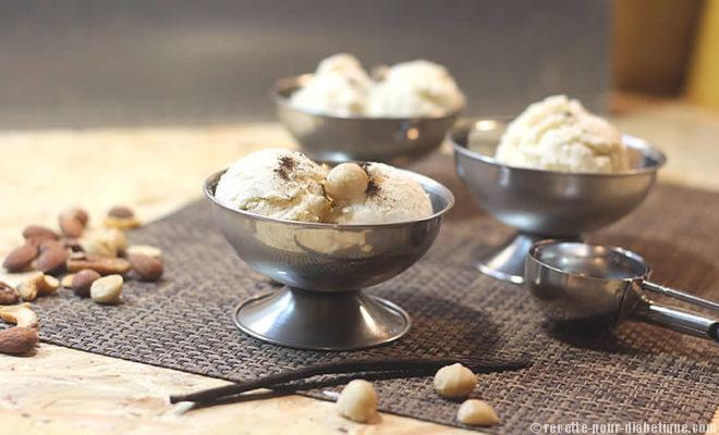 Crème Glacée Vanille Macadamia recette spéciale sans sucre ajouté