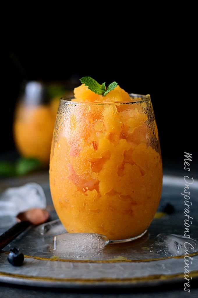 Granité de Melon et basilic