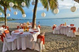 Mariage antillais sur la plage