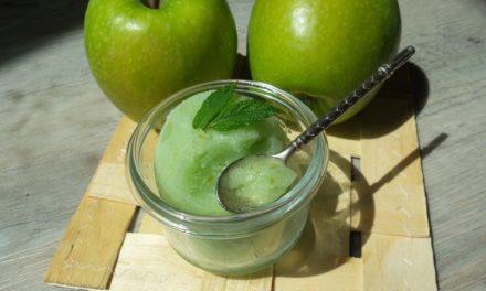 Granité à la pomme verte