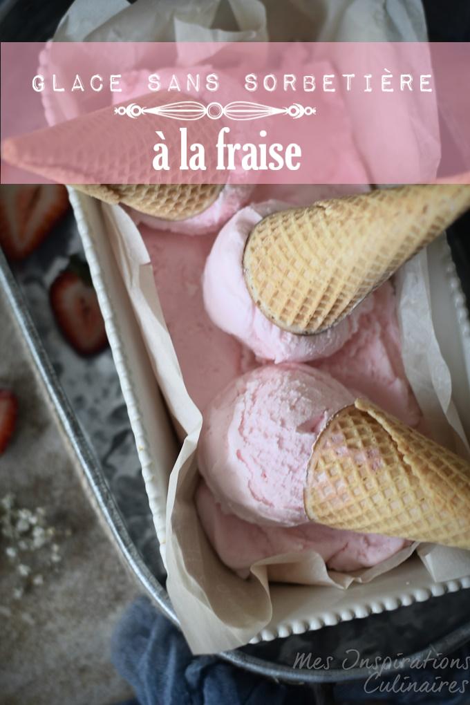 Glace sans sorbetière fraise facile et rapide